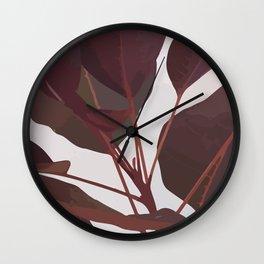 Cotinus Coggygria Royal Purple Stem Wall Clock