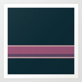 Line Pink Purple Pattern Art Print