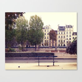 Parisienne Bench Canvas Print