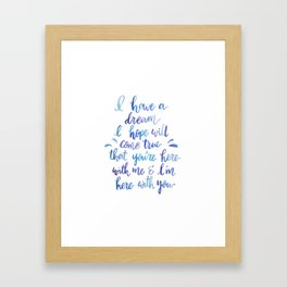 Lava Song Framed Art Print
