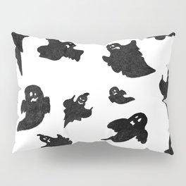 Halloween Ghosts on White Pattern Pillow Sham