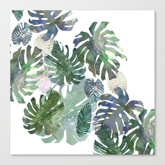 tropical leaves collab Canvas Print
