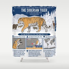 The Wild Ones: Siberian Tiger (info) Shower Curtain