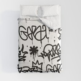 Crowns & Graffiti pattern Comforters