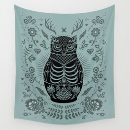 Owl Nesting Doll (Matryoshka) Wall Tapestry