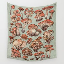 A Series of Mushrooms Wall Tapestry