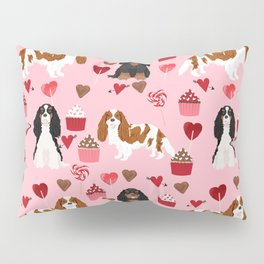 Cavalier King Charles Spaniel mixed coats valentines day dog breed must have cavalier spaniels gifts Pillow Sham