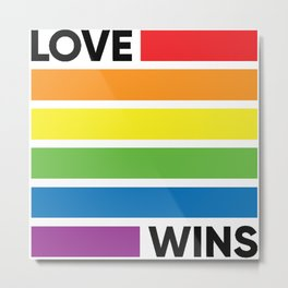 love rainbow Metal Print