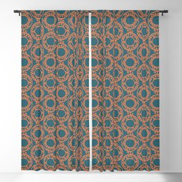Scrolled Ringed Ikat – Colonial Blue Koi Blackout Curtain