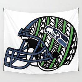Polynesian Style Seahawks Wall Tapestry