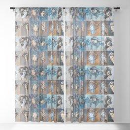 Blues Sheer Curtain