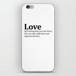 Funny Love Dictionary Meme iPhone Skin