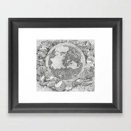 Mappa Mundi (Map of the World) Framed Art Print