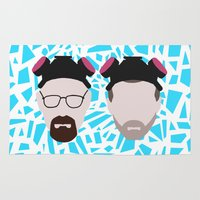 jesse pinkman Area & Throw Rugs featuring Walter White and Jesse Pinkman by Raquel Segal