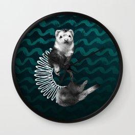 Ferret Slinky Wall Clock