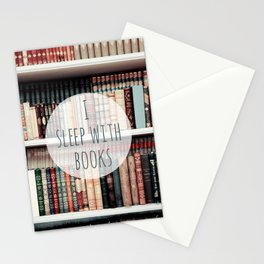 I Sleep With books Stationery Cards