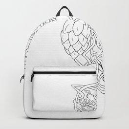 Hops and Barley Owl Celtic Knotwork Backpack