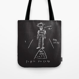 Vectorised Basquiat 80s Punk Rock / ska record cover Tote Bag