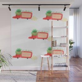 Red yeast pork truck Wall Mural