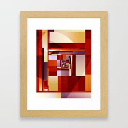 Abstract Red Spiral Framed Art Print