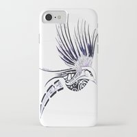 maori iPhone & iPod Cases featuring Colibri Maori by Aurélie B