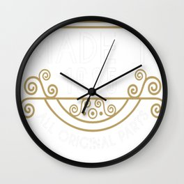 Made In 1985 All Original Parts Birthday Gift Wall Clock