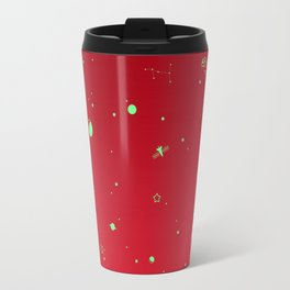 Outer Space Poster (Red) Travel Mug