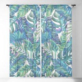 green Tropicana  Sheer Curtain