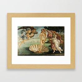 The Birth of Venus painting Framed Art Print