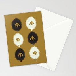 Sheep ochre Stationery Cards