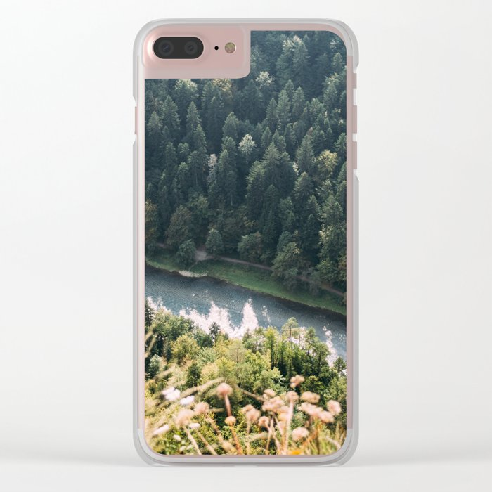 Aerial Forest River Clear iPhone Case