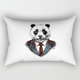 Strictly Business Panda Rectangular Pillow
