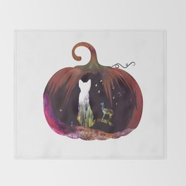 Hallow Kitty Throw Blanket