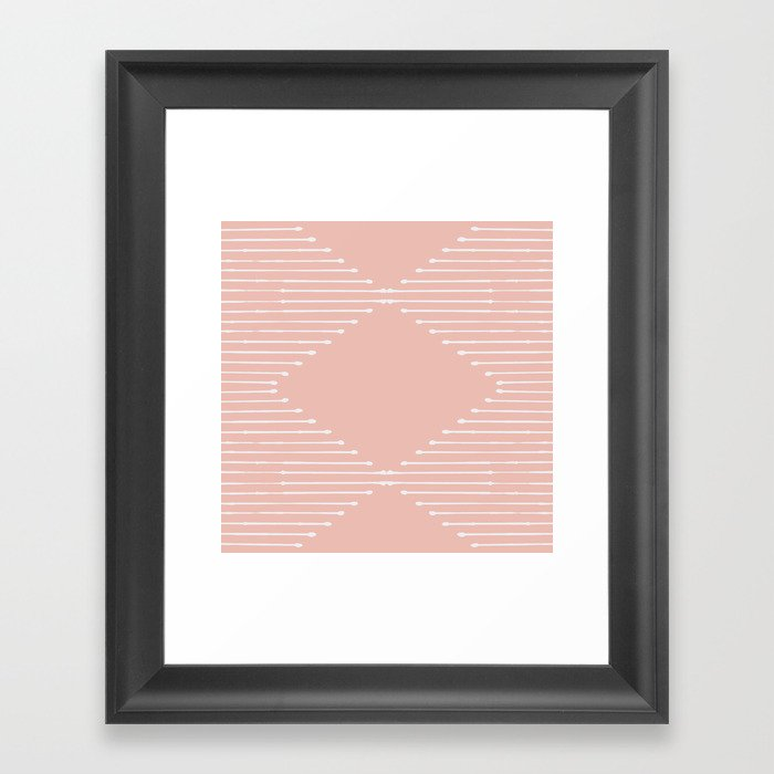 Geo (Blush) Gerahmter Kunstdruck