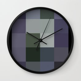 Colorscape: Blueberry Wall Clock