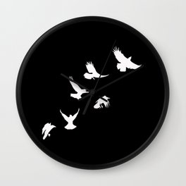 Crows (White) Wall Clock