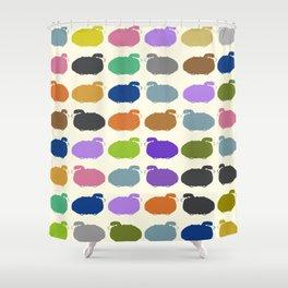 Colorful cartoon sheep pattern Shower Curtain