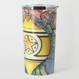 Evergreen and Gold I Travel Mug