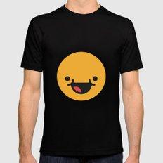 Emojis: Happy Mens Fitted Tee Black MEDIUM