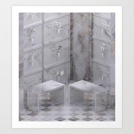 Interior #9 / Mausoleum Art Print