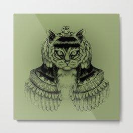 Cleo-CAT-ra Metal Print