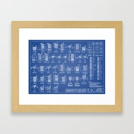 COCKTAILS poster Framed Art Print