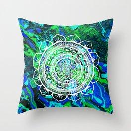 Lucid Liquid Acacia Aquamarine Throw Pillow