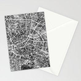 Berlin Germany City Map Stationery Cards