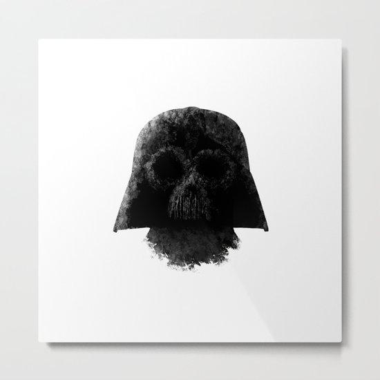 Vader (White) Metal Print