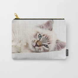 Blue Eyed Kitty Cat Carry-All Pouch