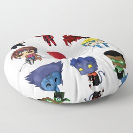 Chibi Heroes Set 2 Floor Pillow