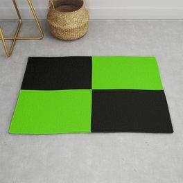 Big mosaic green black Rug