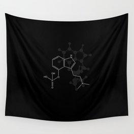 Psilocybin Molecule Wall Tapestry