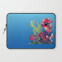 Baby Water Dragon with a Little Cephalopod Laptop Sleeve